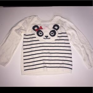 5T Panda Striped Top